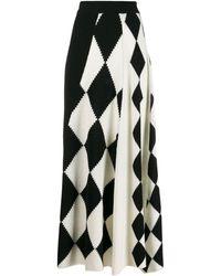Pringle of Scotland Graphic Argyle Panel Skirt - White