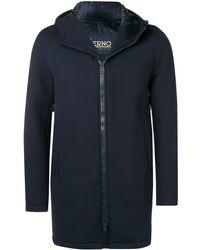 Herno Soft Zipped Coat - Синий