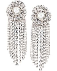 Alessandra Rich Faba Spiral Crystal Clip-on Earrings - Multicolor