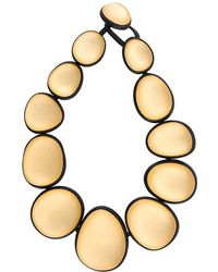 Monies - Two-tone Oversized Bead Necklace - Lyst
