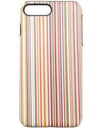 Paul Smith Coque rayée pour iPhone 8 Plus - Multicolore