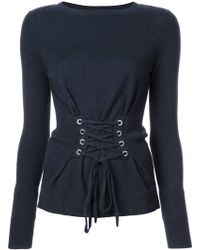 Autumn Cashmere - Lace-up Sweater - Lyst