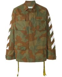 Off-White c/o Virgil Abloh - Camouflage Printed Jacket - Lyst
