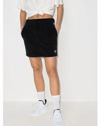 adidas ロゴ ミニスカート - グレー