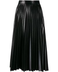 MM6 by Maison Martin Margiela プリーツ スカート - ブラック