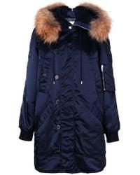 Dondup - Fur Detail Coat - Lyst