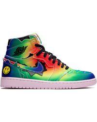 "Nike Air 1 Retro High J. Balvin ""colores Y Vibras"" Sneakers - Blue"