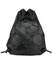 Trippen Hexagon Drawstring Backpack - Black