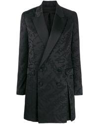 Neil Barrett Graffiti Short Blazer Dress - Black