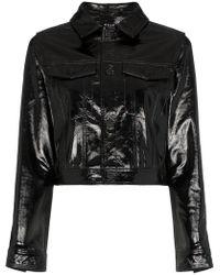 Ksubi - Лакированная Укороченная Куртка 'a2b' - Lyst