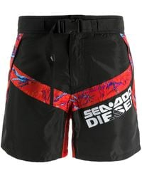 DIESEL X Sea-doo Buckle Strap Swim Shorts - Multicolour