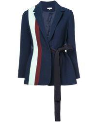 Delpozo Striped Tie-waist Blazer - ブルー