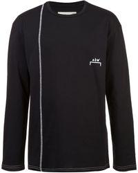 A_COLD_WALL* コントラストステッチ Tシャツ - ブラック