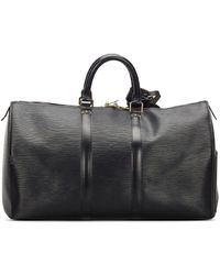 Louis Vuitton 1995 Pre-owned Keepall 45 Travel Bag - Black