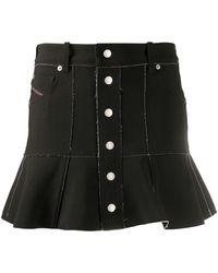 DIESEL バイカラー スカート - ブラック