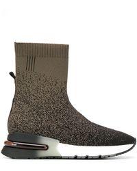 Ash Soksneakers Met Ombré Print - Zwart