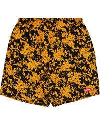 Supreme Floral-print Swimming Shorts - Black