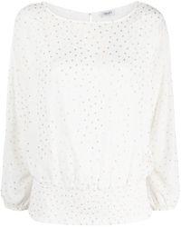 Liu Jo ポルカドット ロングtシャツ - ホワイト