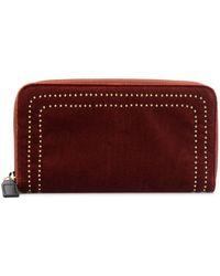 L'Autre Chose Studded continental purse - Rouge