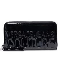Versace Jeans Couture ファスナー財布 - ブラック
