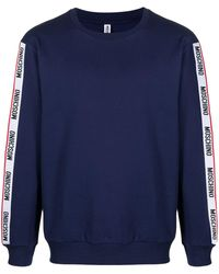 Moschino ロゴストライプ スウェットシャツ - ブルー