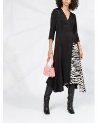 Calvin Klein ゼブラパッチ ドレス - ブラック
