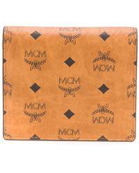 MCM Portafoglio con stampa - Marrone