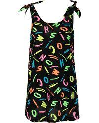 Moschino Пляжное Платье С Логотипом - Черный