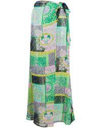Versace Юбка-саронг С Принтом Barocco Patchwork - Зеленый