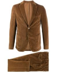 Eleventy Textured Two Piece Suit - Brown