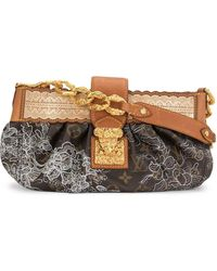 Louis Vuitton フローラル ハンドバッグ - ブラウン