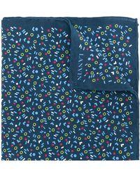 Lanvin プリント スカーフ - ブルー