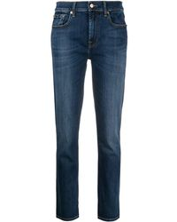 7 For All Mankind - クロップドジーンズ - Lyst