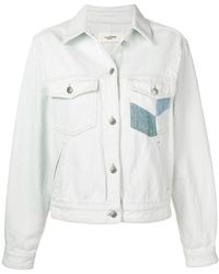 8f68f30cae Lyst - Étoile Isabel Marant Christa Embellished-collar Denim Jacket ...