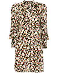 Chloé - プリント シャツドレス - Lyst