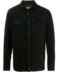 AJMONE レザー シャツ - ブラック