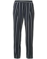 Guild Prime - Striped Cropped Slim-fit Trousers - Lyst