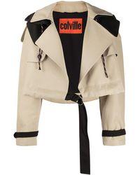 Colville Oversized Belted Jacket - Black