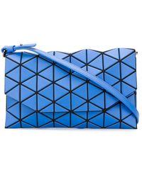 Bao Bao Issey Miyake Tonneau Matte Clutch Bag - Blue
