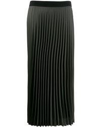 Moncler ロング プリーツスカート - グリーン