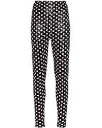 Richard Quinn Sequinned leggings - Black