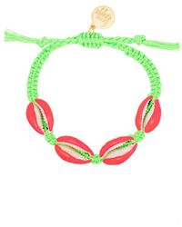 Venessa Arizaga Fantasea Shell Braided Bracelet - Green