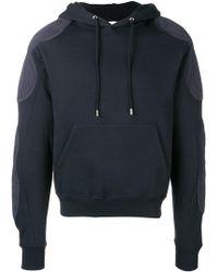 GmbH Renwhar Panel Hooded Sweatshirt In Navy - Blue