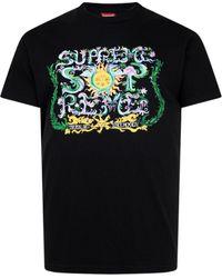 Supreme ロゴ Tシャツ - ブラック
