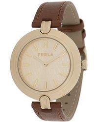 Furla ラウンド 腕時計 - ブラウン
