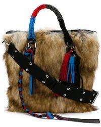Sacai - Fluffy Wide Tote Bag - Lyst