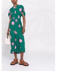 Marni - Платье Миди С Абстрактным Принтом - Lyst