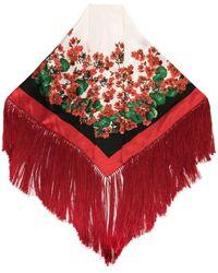Dolce & Gabbana - フリンジ スカーフ - Lyst