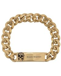 Alexander McQueen Браслет Chain Skull - Металлик