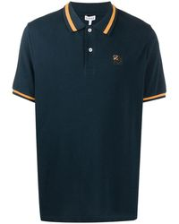 Loewe Embroidered Logo Polo Shirt - Blue
